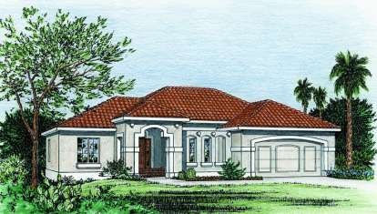 3 Bed, 2 Bath, 1970 Square Foot House Plan - #402-00687
