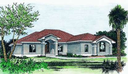 3 Bed, 2 Bath, 2647 Square Foot House Plan - #402-00690