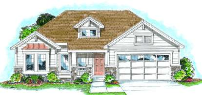 2 Bed, 2 Bath, 1615 Square Foot House Plan - #402-00707