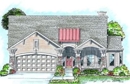 1 Bed, 2 Bath, 1778 Square Foot House Plan - #402-00710