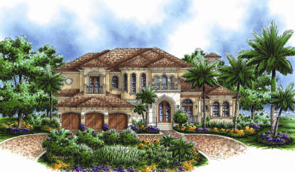 4 Bed, 4 Bath, 4307 Square Foot House Plan - #575-00009