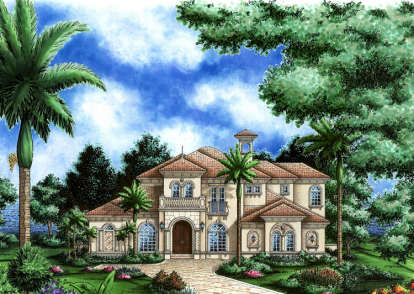4 Bed, 4 Bath, 4405 Square Foot House Plan - #575-00010