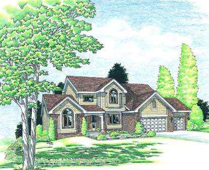 4 Bed, 2 Bath, 2322 Square Foot House Plan - #402-00763