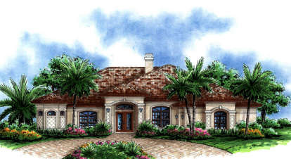 4 Bed, 3 Bath, 3337 Square Foot House Plan - #575-00012