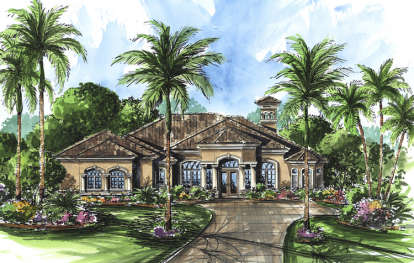 4 Bed, 3 Bath, 3697 Square Foot House Plan - #575-00013