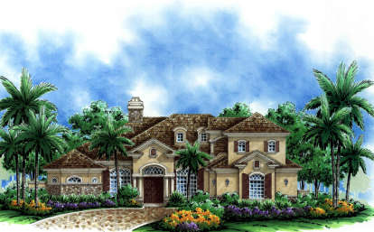 4 Bed, 3 Bath, 4009 Square Foot House Plan - #575-00014