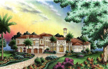 4 Bed, 5 Bath, 6946 Square Foot House Plan - #575-00024