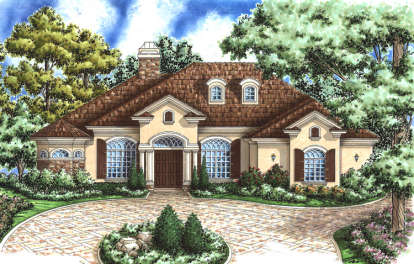 4 Bed, 3 Bath, 3119 Square Foot House Plan #575-00027