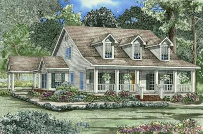 4 Bed, 3 Bath, 2186 Square Foot House Plan - #110-00236