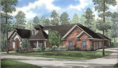 5 Bed, 4 Bath, 5724 Square Foot House Plan - #110-00237