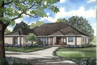 4 Bed, 3 Bath, 2951 Square Foot House Plan - #110-00240