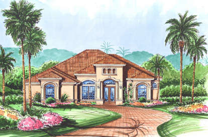 3 Bed, 3 Bath, 2832 Square Foot House Plan - #575-00037