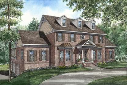 5 Bed, 3 Bath, 4155 Square Foot House Plan - #110-00256