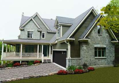 4 Bed, 2 Bath, 2376 Square Foot House Plan - #034-00088