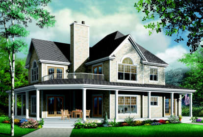 4 Bed, 3 Bath, 2992 Square Foot House Plan - #034-00089