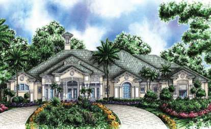 3 Bed, 4 Bath, 4494 Square Foot House Plan #575-00042