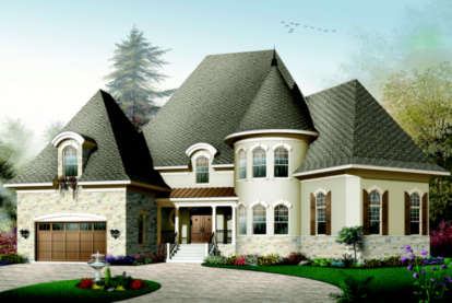4 Bed, 3 Bath, 3649 Square Foot House Plan - #034-00090
