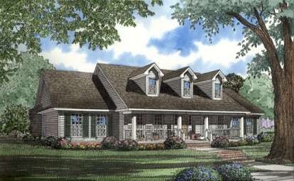 4 Bed, 2 Bath, 2388 Square Foot House Plan - #110-00264