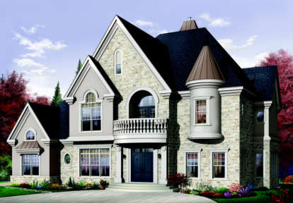 4 Bed, 3 Bath, 3614 Square Foot House Plan - #034-00091