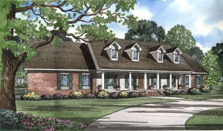 Traditional House Plan #110-00272 Elevation Photo