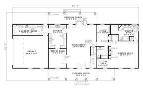 Floorplan 1 for House Plan #110-00272