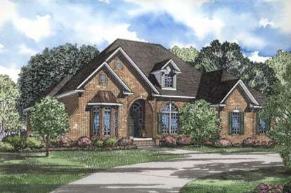 4 Bed, 2 Bath, 2606 Square Foot House Plan - #110-00279