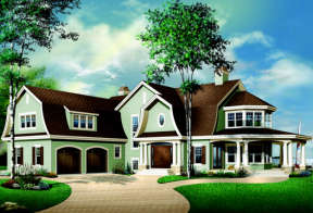 Country House Plan #034-00092 Elevation Photo