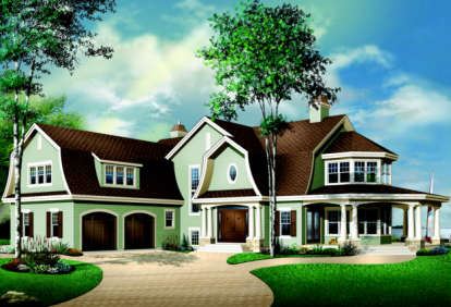 4 Bed, 3 Bath, 4075 Square Foot House Plan - #034-00092
