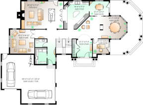 First Floor for House Plan #034-00092