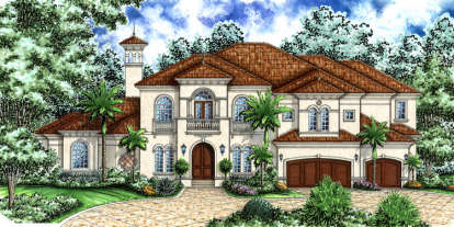 4 Bed, 5 Bath, 5332 Square Foot House Plan - #575-00054