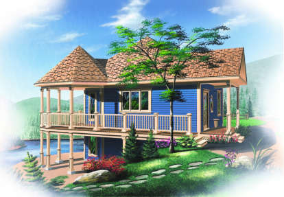 1 Bed, 1 Bath, 840 Square Foot House Plan - #034-00093