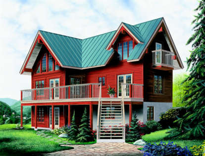 3 Bed, 1 Bath, 1437 Square Foot House Plan - #034-00095