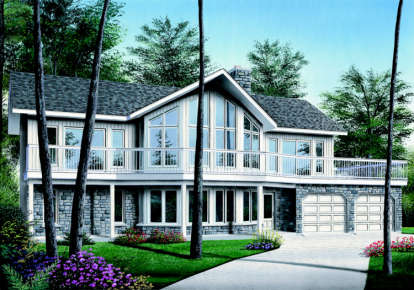 4 Bed, 3 Bath, 3105 Square Foot House Plan - #034-00096