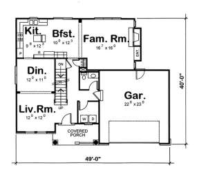 Floorplan 1 for House Plan #402-00847