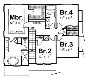 Floorplan 2 for House Plan #402-00847