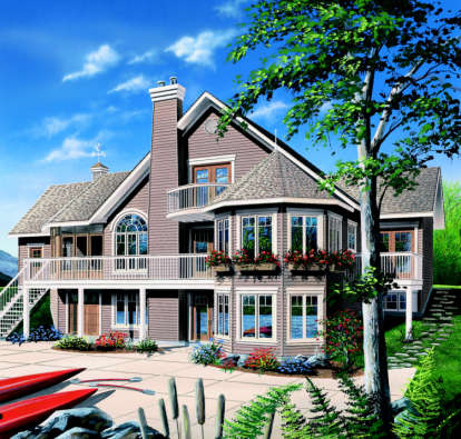 4 Bed, 3 Bath, 3392 Square Foot House Plan - #034-00099