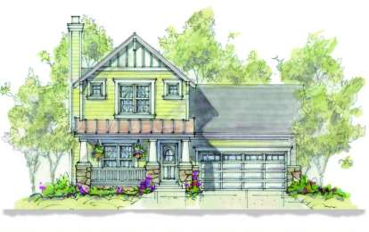 3 Bed, 2 Bath, 1473 Square Foot House Plan - #402-00881