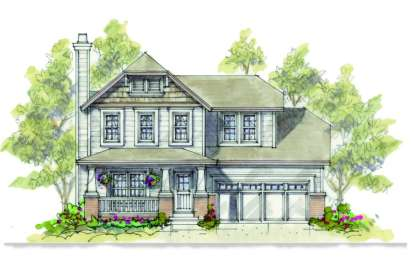 3 Bed, 2 Bath, 1634 Square Foot House Plan - #402-00882