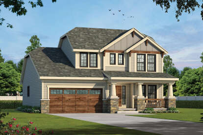 3 Bed, 2 Bath, 1699 Square Foot House Plan - #402-00885