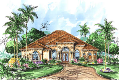 3 Bed, 3 Bath, 2878 Square Foot House Plan - #575-00062