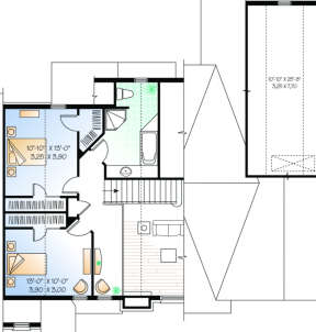 Second Floor for House Plan #034-00102