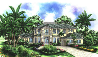 5 Bed, 5 Bath, 5905 Square Foot House Plan - #575-00068