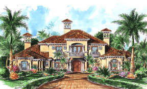 Luxury House Plan #575-00072 Elevation Photo