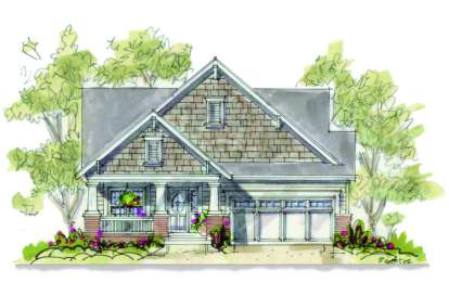 1 Bed, 2 Bath, 1334 Square Foot House Plan #402-00886