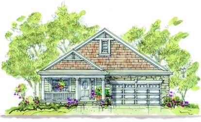 1 Bed, 2 Bath, 1344 Square Foot House Plan - #402-00891