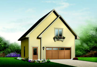 1 Bed, 1 Bath, 713 Square Foot House Plan - #034-00106