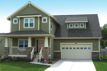 3 Bed, 2 Bath, 1568 Square Foot House Plan - #402-00900