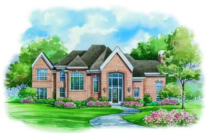 4 Bed, 3 Bath, 3393 Square Foot House Plan - #402-00936