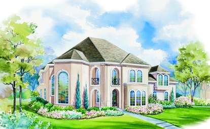 4 Bed, 3 Bath, 3774 Square Foot House Plan - #402-00942