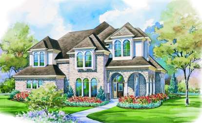4 Bed, 3 Bath, 3652 Square Foot House Plan - #402-00943